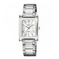 卡西欧手表BEM系列男表时尚方形钢带石英男士手表 BEM-100D-7A2