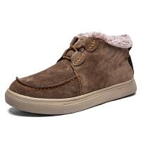 棉鞋男冬季保暖加绒加厚户外登山踏青登上鞋鞋底耐磨防滑雪地短靴