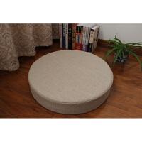 日式棉麻蒲团坐垫飘窗打坐禅修拜佛垫加厚圆形地板榻榻米坐垫 直径60cm 厚度20厘米