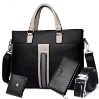 精品男包公文包商务包男士手提包包横款休闲电脑包竖款斜挎包