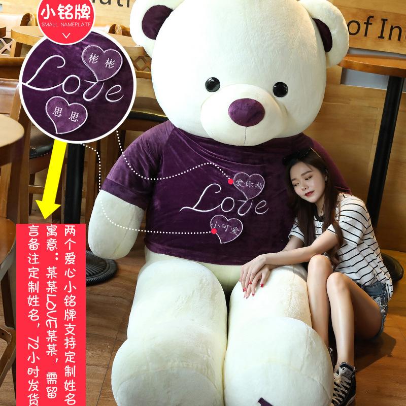 ?熊毛绒玩具泰迪熊猫公仔送女友生布娃娃抱抱熊儿童超大号生日礼物