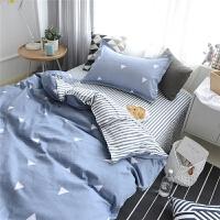 ???纯棉学生宿舍被套单人床上三件套床品 儿童床单1.2米床上用品全棉 爱巢之恋
