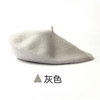 韩国秋冬天时尚贝雷帽子红英伦画家帽蓓蕾线女韩版潮冬季yly M(56-58cm)