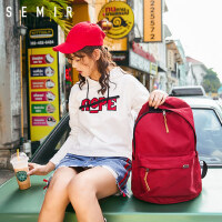 森马双肩包韩版学生书包女时尚潮流 男士背包男大容量休闲旅行包