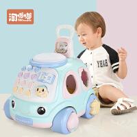 儿童拉线车拖拉玩具电话车1-2-3岁玩具男女宝宝手拉车 拖拉电话车