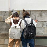 书包女韩版原宿ulzzang高中学生小清新旅行背包帆布百搭双肩包