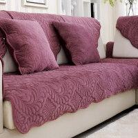 北欧简约毛绒沙发垫防滑皮沙发套沙发巾布艺通用坐垫简约现代实木