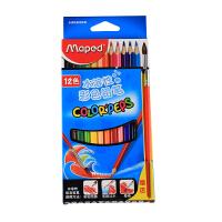 马培德12色水溶性彩色铅笔836011CH 水溶彩铅涂色笔填色笔