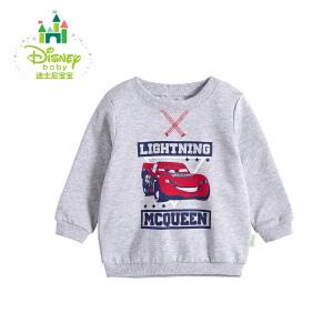 迪士尼Disney 童装男童卫衣新款春秋装宝宝保暖运动休闲上衣173S949