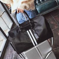 2018欧美时尚旅行包女手提包旅行袋行李包长短途旅游包健身包大包 黑色