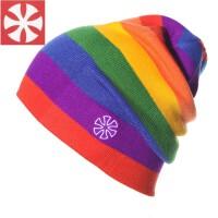 多彩单板滑雪帽针织帽保暖滑冰帽双层针织休闲帽 M(56-58cm)