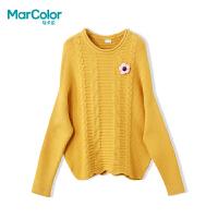 【119元4件】巴拉巴拉旗下马卡乐女童秋装廓形设计毛衣甜美精致上衣