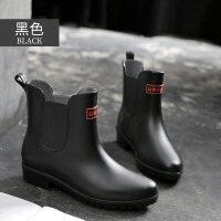 雨鞋女韩国可爱水鞋雨靴短筒学生切尔西套鞋胶鞋糖果中筒水靴