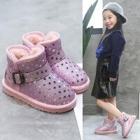 №【2019新款】冬天小朋友穿的女童雪地靴加绒棉靴鞋子宝宝女孩短靴子儿童棉鞋秋