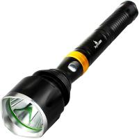 家用户外手提灯探照灯 LED强光手电筒军 远射长防身可充电