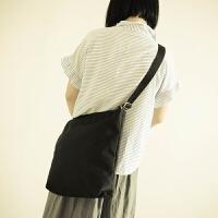 单肩包女包斜跨包简约纯色包背包纯棉帆布休闲包学院风