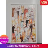 实木拼图框500片1000片相框拼图框架海报框挂墙50×75裱画框 自店营年货