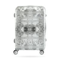 行李箱女20铝框登机皮箱子24密码旅行箱潮原创26寸万向轮拉杆箱男 灰色幻影