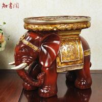 欧式家居树脂鞋柜大象凳子礼品创意摆件工艺品换鞋凳东南亚饰品