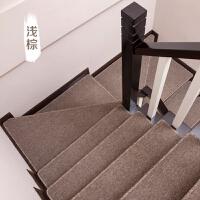 欧式楼梯地毯楼梯踏步垫色防滑木楼梯地毯家用满铺转角地垫定制 复杂转角