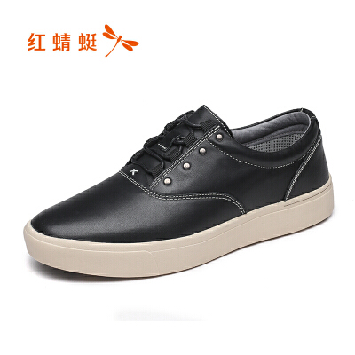 【领劵下单立减120】红蜻蜓男鞋春秋新款套脚皮鞋舒适休闲单鞋真皮男士皮鞋