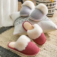 冬季情侣室内居家居儿童棉拖鞋女士加厚底保暖毛毛鞋男士棉鞋冬天
