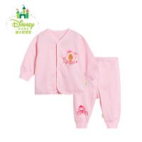 迪士尼Disney女童套装春秋季新品纯棉前开扣宝宝内衣两用档家居服173T692