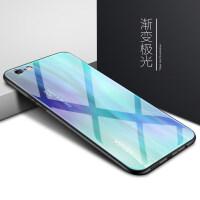 苹果6splus手机壳iphone6s玻璃6plus保护套6p简约男六6sp纯色外壳ipone新款女