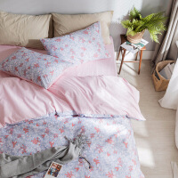 田园风小清新床单四件套全棉纯棉床上三件套床笠床上用品