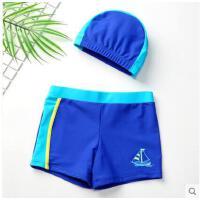 海边度假泳衣套装儿童泳裤男童分体带帽泳装宝宝游泳裤婴幼儿小童速干