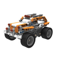 好帅 超霸机器人儿童智能编程STEM教育积木多功能益智电动遥控创客拼搭组装 橙色HS-C6
