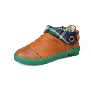 比比我童鞋休闲鞋一脚蹬大童男鞋软皮软底舒适大气潮