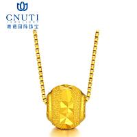 CNUTI粤通国际珠宝足金路路通转运珠项链 路路通手链手串转运珠戒 0.3g±0.03