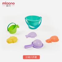 曼龙儿童沙滩玩具套装玩沙子挖铲子工具宝宝戏水洗澡玩具沙滩套装6件套