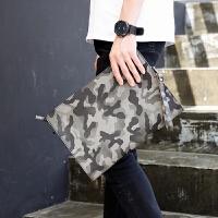 男士韩版新款手抓包 潮流迷彩日系手拿包 商务文件iPad单肩斜跨包