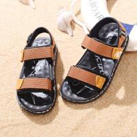 儿童凉鞋男童夏季中大童宝宝沙滩鞋男孩学生防滑凉鞋