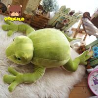 好 大青蛙 公仔 抱枕靠垫 安抚抱枕 儿童睡觉抱枕 如图色 70厘米