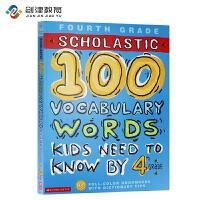 英文原版 100 Vocabulary Words Kids Need To Read By 4th Grade 课外