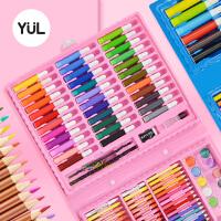 水彩笔安全无毒可水洗儿童水彩画笔套装彩笔3彩色笔6色颜色笔幼儿园美术学生蜡笔24绘画套装画画笔水溶性工具