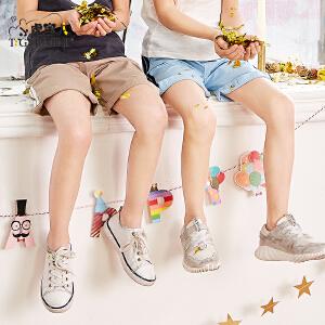 小虎宝儿童装男童运动纯棉短裤外穿2018夏季新款中大童休闲五分裤