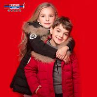 铅笔俱乐部童装2018冬季男童中长款羽绒服中大童外套儿童加厚外套