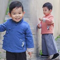 男童汉服宝宝唐装新年冬装儿童古装中国风中式复古风童装中小童