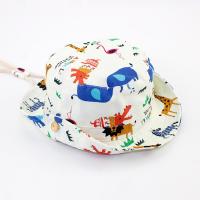 儿童帽男渔夫帽沙滩帽盆帽出游帽子遮阳帽太阳帽男宝宝帽婴儿帽男56 动物园有防风带 S 约5~8月建议头围43~45CM