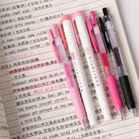 网红颜控手账推荐日本ZEBRA斑马JJ15彩色按动中性笔中小学生用荧光笔组合套装紫色系蓝色粉色系灰色系橙色系