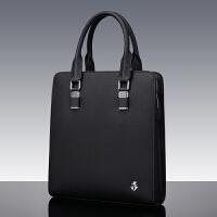 男包手提包男士包包新款休闲皮包男竖款公文包时尚手拎包