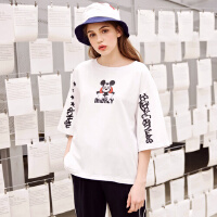 【2件2.5折到手价:29.8】美特斯邦威米奇T恤女学生纯棉半袖衫上衣潮夏新款商场款