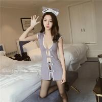 空姐制服女情趣内衣小胸乳性感紧身诱惑sm骚夜火激情用品情趣套装 均码 适合85-125斤