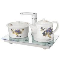 陶瓷电热水壶套装自动上水抽水烧水壶茶具保温