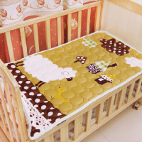 可折叠幼儿园午睡床垫法兰绒珊瑚绒儿童垫被婴儿床褥子可水洗家用