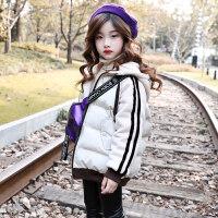女童棉衣2018新款韩版儿童冬装中长款加厚小女孩洋气棉袄外套 如图色